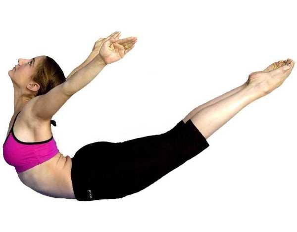 йога поза скакалец