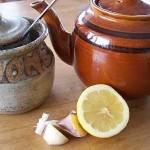 Чай от лимон и чесън