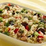 Салата от ориз и зеленчуци