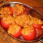 Диетични пълнени домати с тиква